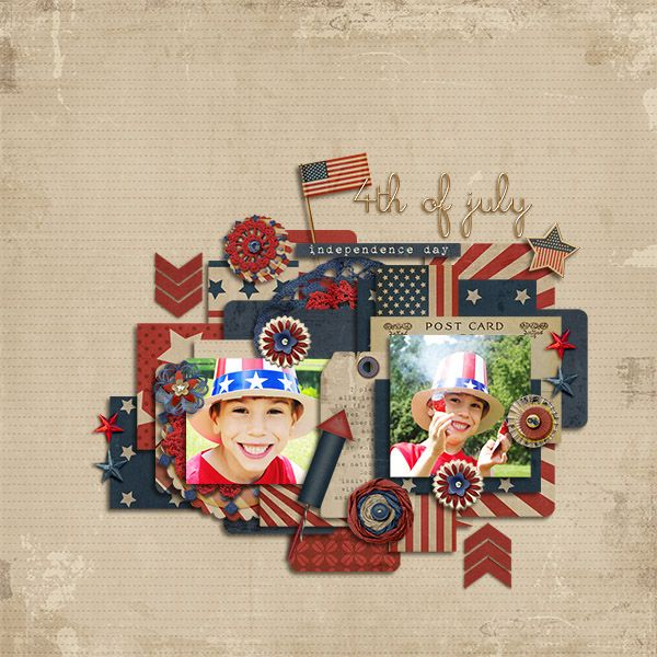 Land of the Free {Complete Kit} by HGD by Laurie Ann Feeling Good Template by TwoTiny Turtles