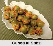 Gunda ki Sabzi is an authentic Rajasthani Cuisine. For the recipe visit the page. #rajasthanicuisone #indianfood #vegetarianfood