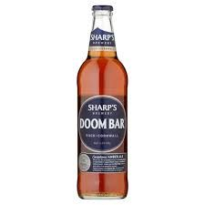 Sharp's Doom Bar - Rock, Cornwall.  3* Session beer. Sharp's was founded in 1994 as a small micro-brewery now owned by Molson Coors.