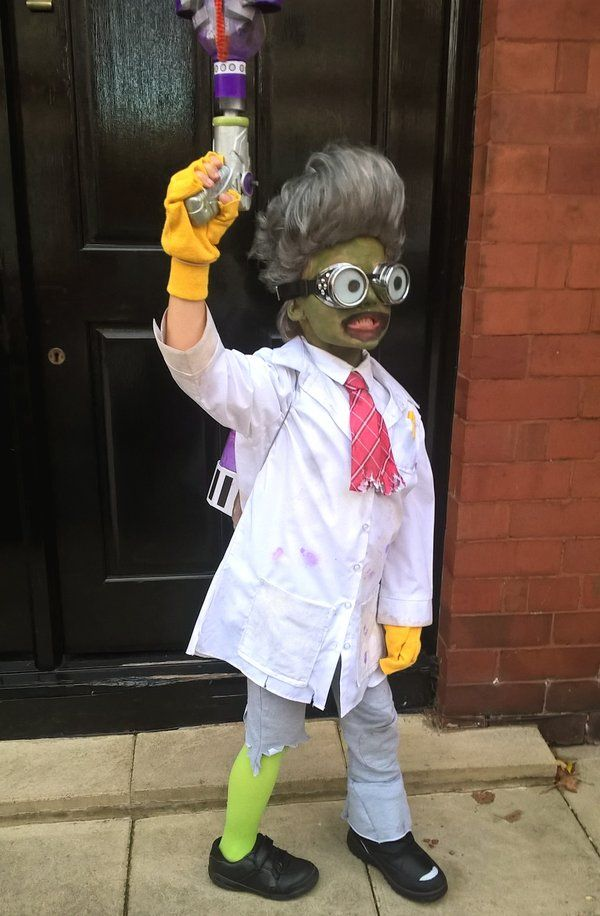 PVZ Plants vs Zombies Garden warfare SCIENTIST Halloween Costume kids boys DIY zombie homemade idea