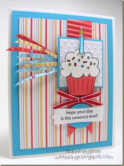 Adorable cupcake card
