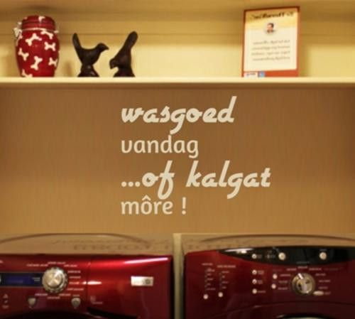 VINYL DECAL WASGOED VANDAG AFRIKAANS INSPIRATIONAL QUOTE TYPE 2 WALL ART STICKER