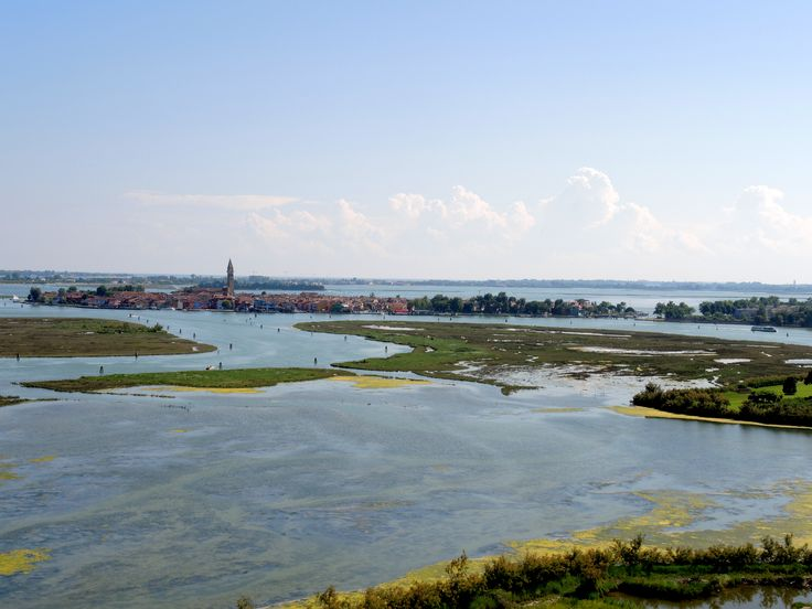 Burano seen from the top of Torcello's bell tower