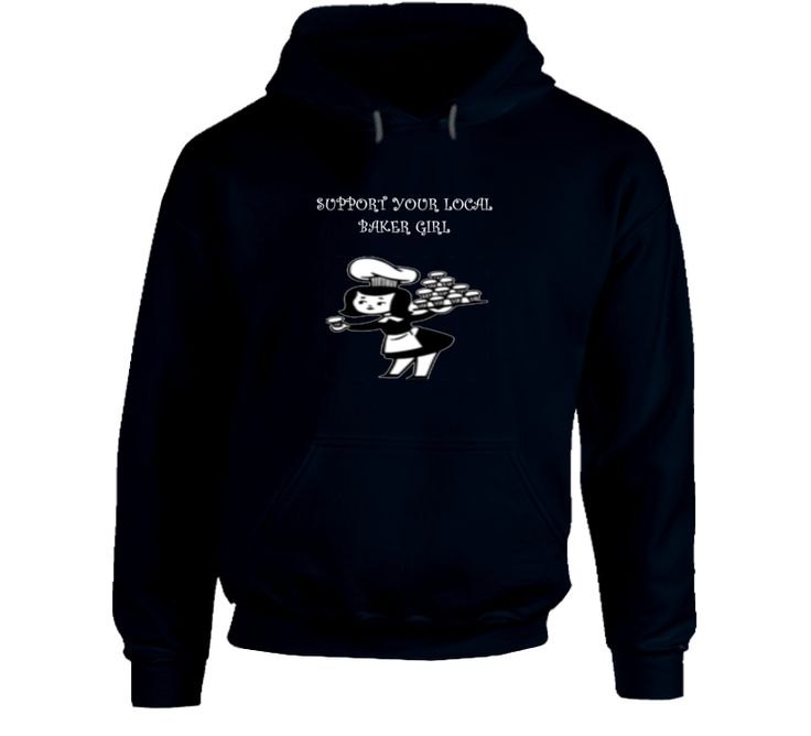 Support Your Local Bakergirl- Navy Hoodie