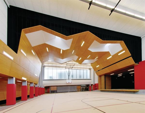 School Gymnasium in Exeter | Dake Wells Architecture | Architectural Components Group, Inc.