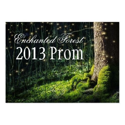 Enchanted Forest Prom Tickets - Invitations Large Business Card
