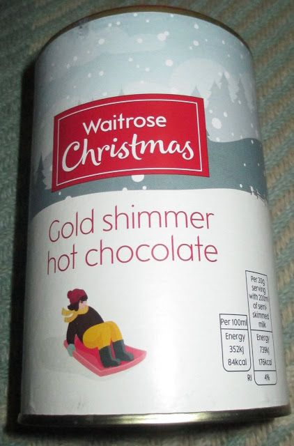 FOODSTUFF FINDS: Gold Shimmer Hot Chocolate (Waitrose Christmas) By @Cinabar