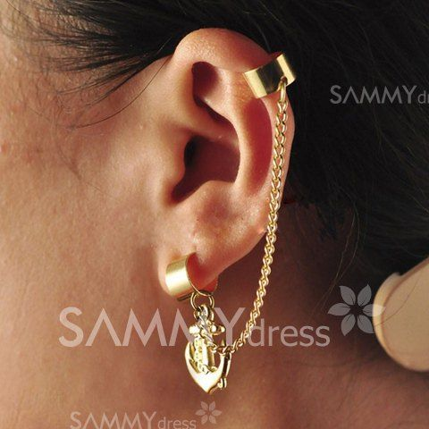 $1.91 Stylish Punk Style Anchor and Chain Embellished Earrings