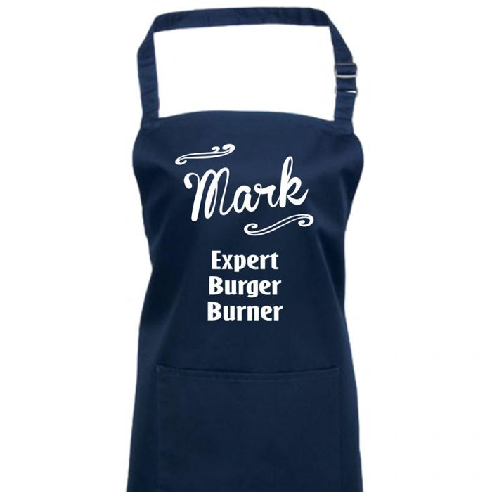 Our Expert Burger Burner Personalised Apron makes a fun gift for a dad, husband or partner (or even wife or girlfriend!) who insists on taking over the BBQ... only to burn the burgers! #expert #burger #burner #personalised #apron