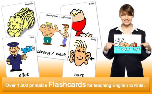 Flash cards for reading and writing
