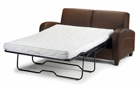 Panache faux leather sofa bed