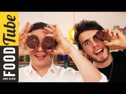 Double Chocolate Cookies | Alfie Deyes & Jamie Oliver - YouTube