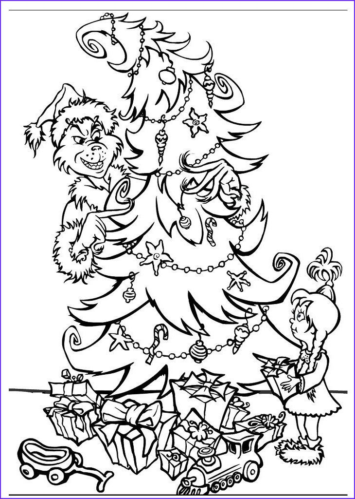 Grinch Full Body Coloring Pages Coloring Home in 2020 ...