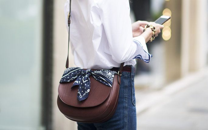 How to Tie a Scarf to Your Bag: 6 Styling Ideas | InStyle.com