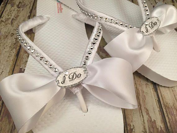 So Sweet Bride Bridal Flip Flops  I Do Flip Flops  Custom