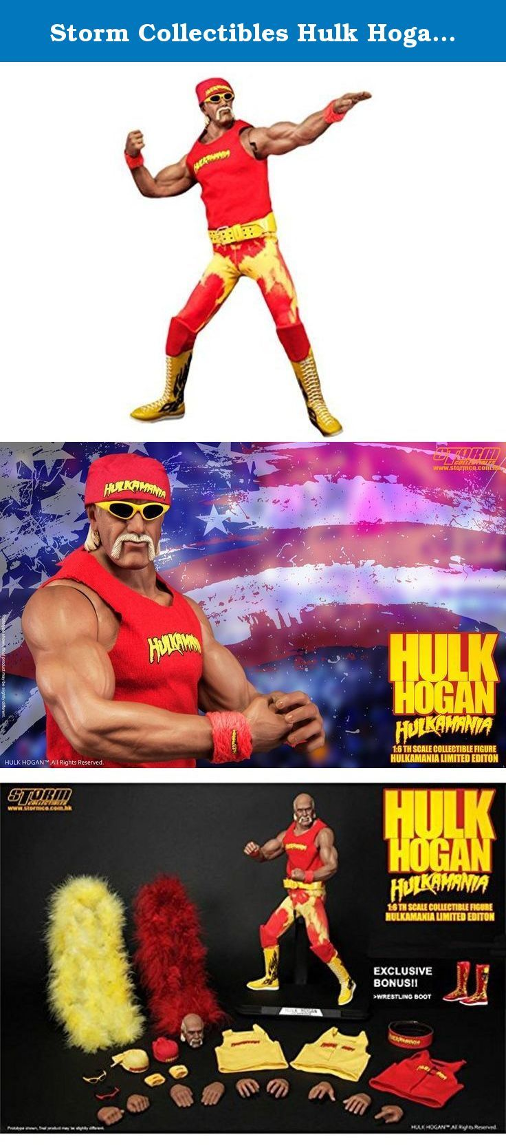 "Storm Collectibles Hulk Hogan ""Hulkamania"" 1/6th Scale Premium Figure. The greatest champion, most popular, most iconic wrestler and celebrity of all time, he is the true legend: Hulk Hogan, also known as Hulkamania, Hulkster, and Hollywood Hogan. He is the reason we watch wrestling, and his stage performance has brought the business to the next level. Hulkamania - the red and yellow - have created the most iconic fashion in wrestling entertainment history that no one will forget. Storm..."