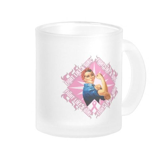 Breast Cancer FIGHT Rosie The Riverter Coffee Mugs