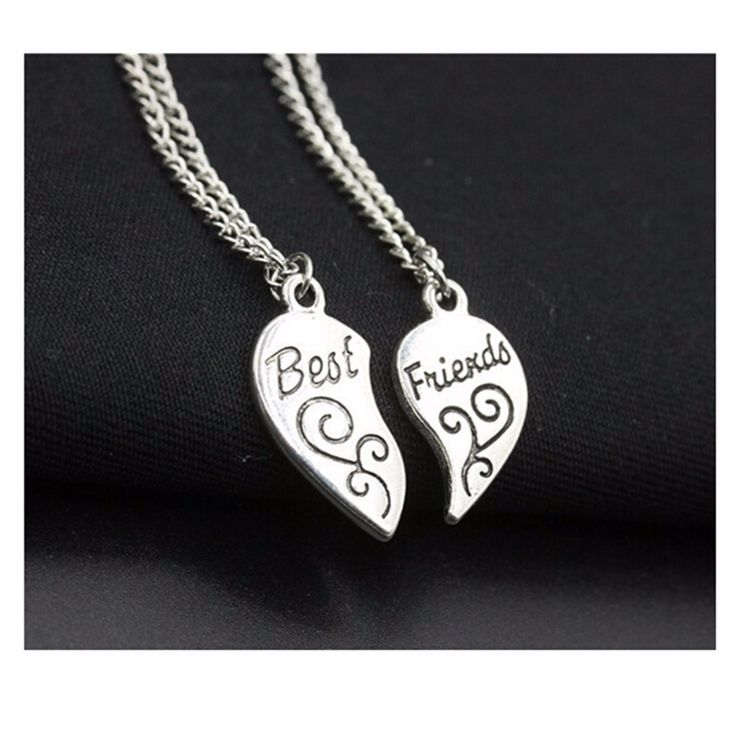 Exo Choker New 2016 Summer Men Bijoux Silver Plated Best Friend Love Heart Necklaces For Women Chain Jewelry Gift One Direction