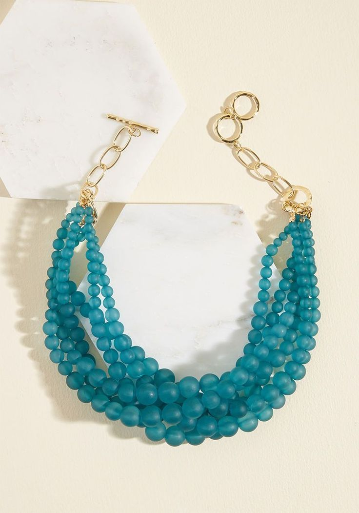Burst Your Bauble Necklace in Matte Teal $24.99 Modcloth
