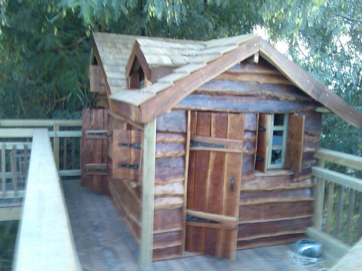Eucalyptus wood children's play house