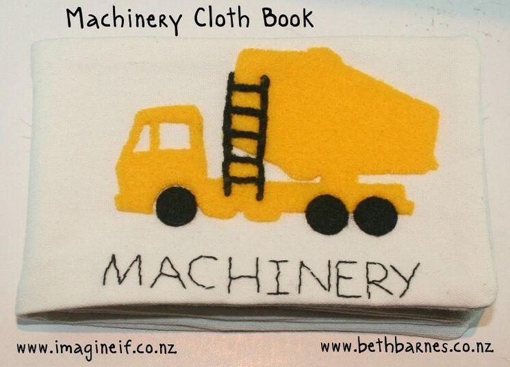 Cloth book with machinery cut in felt by @Beth Barnes