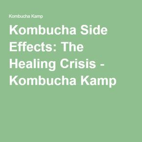 Kombucha Side Effects: The Healing Crisis - Kombucha Kamp