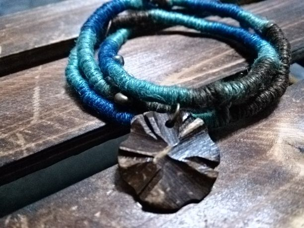 メンズOK BLUE&GLAYヘンプブレスレット&チョーカー画像1