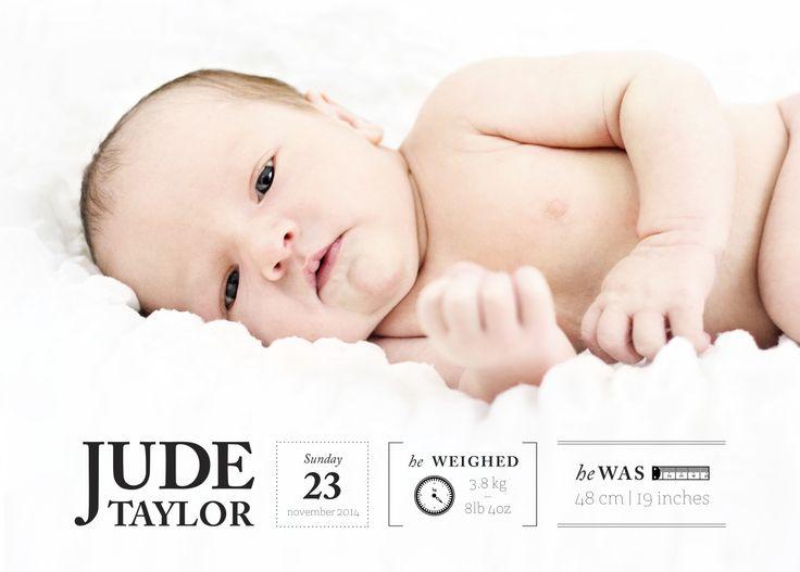 Birth announcement card - postcard
