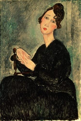 Amedeo Modigliani: Portrait of Dedie (Odette Hayman), 1918. Musee National D'Art Moderne, Centre Georges Pompidou, Paris. Oil on canvas.