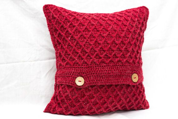 Red Cushion Cover Red Scatter Cushion Cover Red by TorvaigDesigns @torvaigdesigns