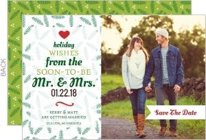 Holiday Save the Date Announcement | Festive Typographic Tree Holiday Save The Date Announcement
