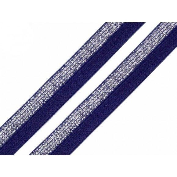 Schrägband elastisch 17mm – navy