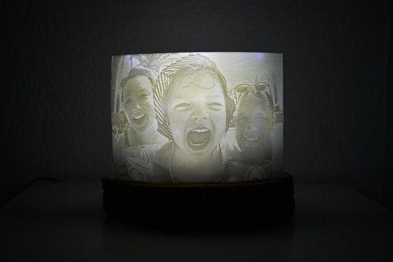 3d Foto Lithophanie Mit Baumscheibe Und Lampe 3d Foto Baum Lampen