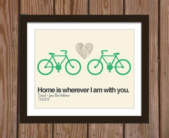 Dom jest tam, gdzie jest Twój rower. :)  [źródło zdj.: pinterest.com]