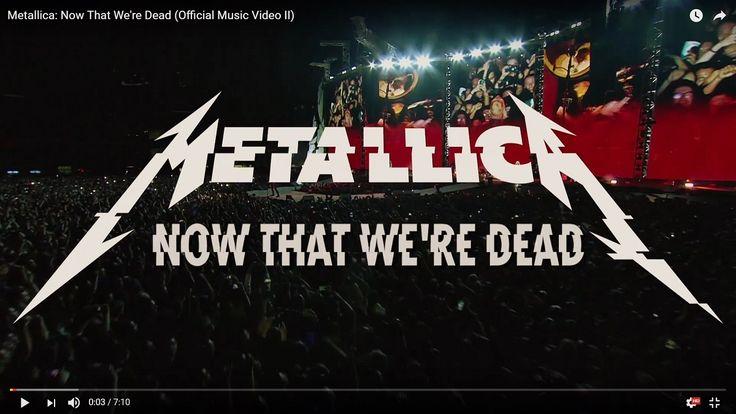 Metallica представила второй клип на песню Now That We're Dead - http://rockcult.ru/news/metallica-share-second-video-now-that-were-dead/