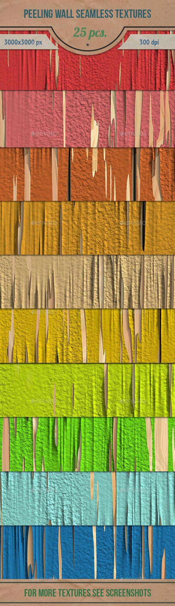 Peeling Wall Seamless HD Textures Pack