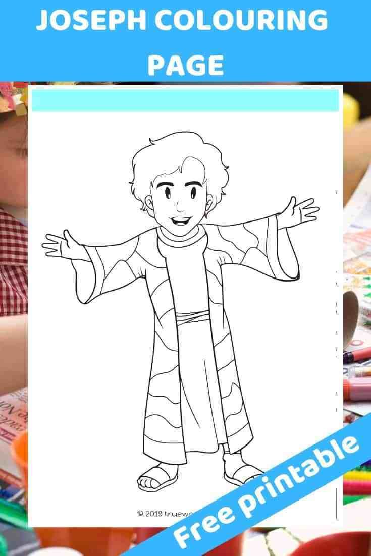 Free Printable Joseph Coloring Page Free Bible Lesson For Under 5s Trueway Kids Bible Activities For Kids Bible Stories For Kids Bible Crafts Preschool