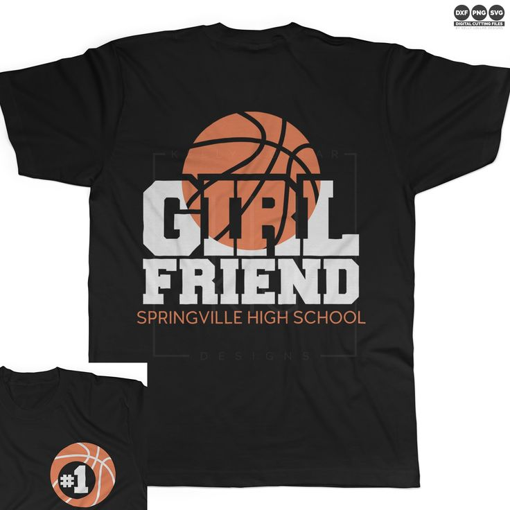 Basketball Girlfriend svg file in 2 or 4 color options with matching monogram plus no layering so it's perfect for glitter vinyl! | Kelly Lollar Designs  #basketballsvg #basketballgirlfriend