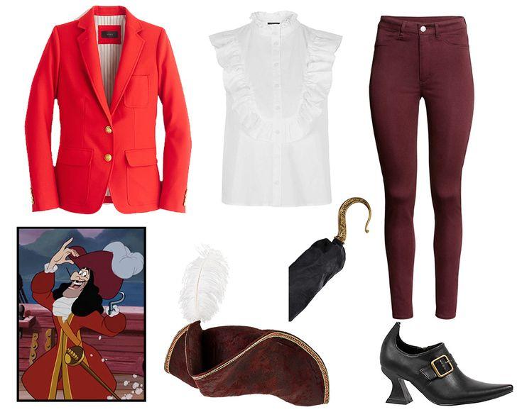 3 Wickedly Stylish Disney Villain Costumes | Chic Captain Hook Halloween costume inspiration | [ http://di.sn/60048BTrq ]