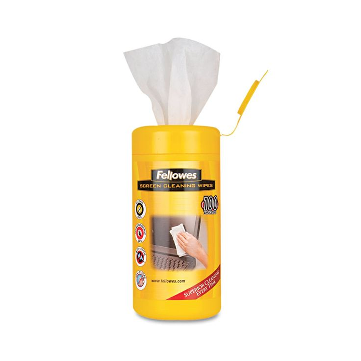 """Screen Cleaning Wet Wipes, 5.12"""""""" X 5.90"""""""", 100/tub"""