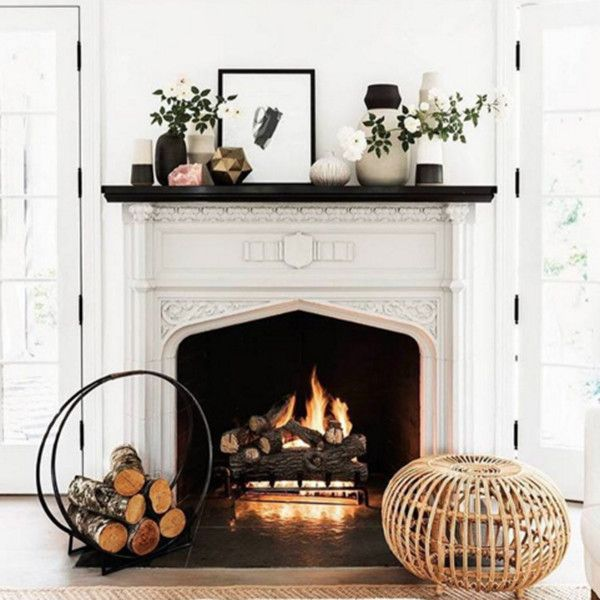 Light And Bright - 15 Inspiring Fireplaces From Instagram - Photos