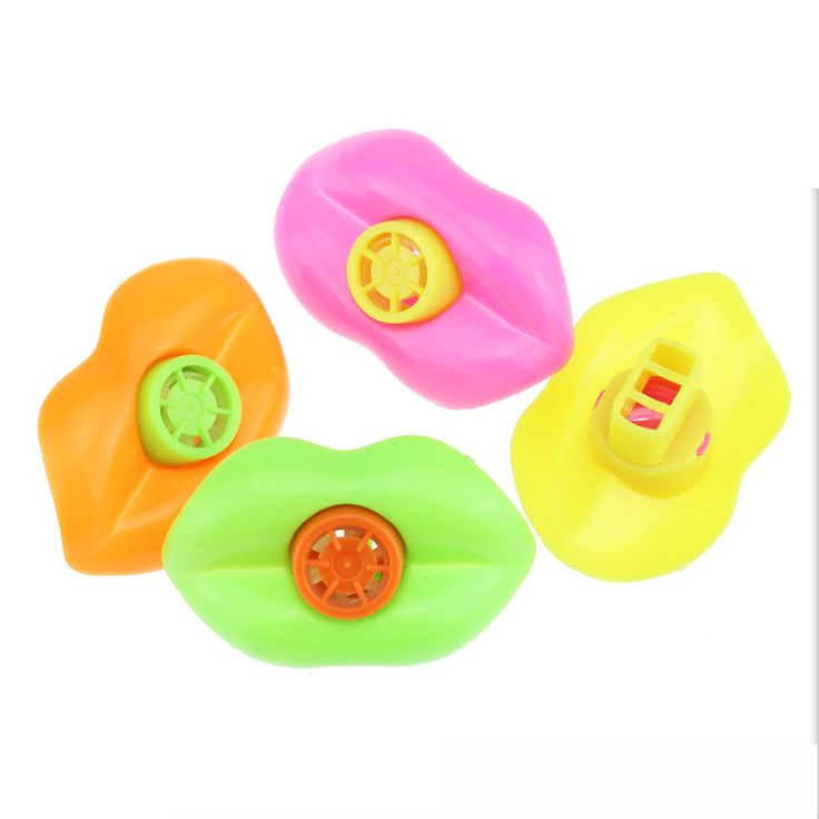 15PCS mixed color Plastic Lip Whistles Pinata Fillers Kids Birthday Party Supplies Gift Toys christmas party toy decoration