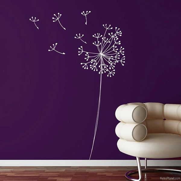 wall decals, transfers and murals: damage-free retro decor