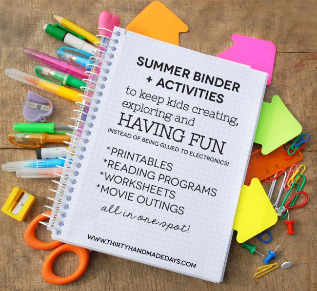 create a binder full of fun for your kids this summer! Beat the boredom blues.Printables Summer, Crafts Ideas, Summer Binder, Include Ideas, Binder Full, Summer Fun, Fun Crafts, Kids Include, Boredom Blue