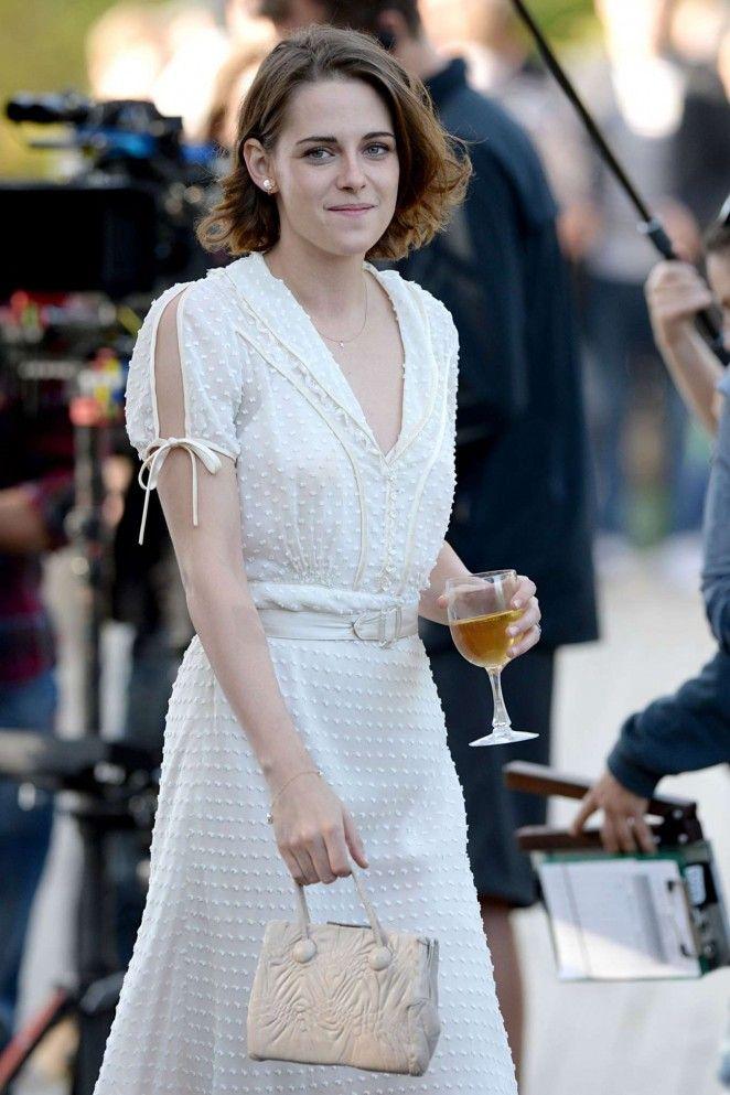 Kristen Stewart - Filming Woody Allen Movie in Central Park
