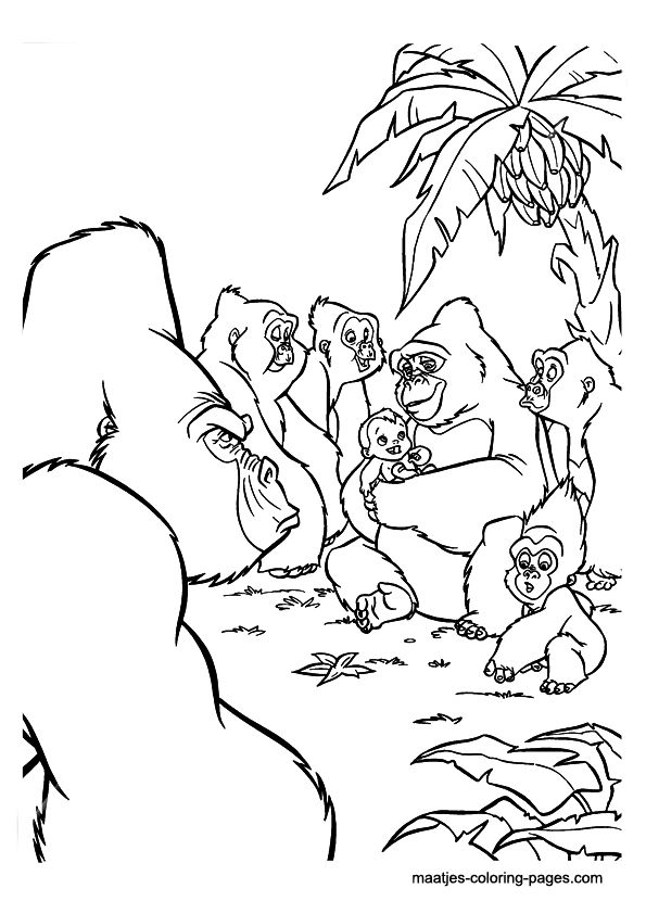 images tarzan coloring pages - photo#30