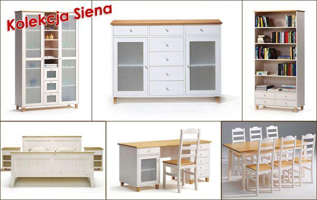 Kolekcja Siena - meble sosnowe. Producent Made of Wood Group.