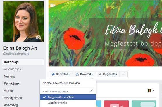 Te hagyod hogy valaki más döntsön helyetted??? ==================================================== Annak ellenére hogy követsz engem illetve kedvelted az Edina Balogh Art oldalt nem mindig teszi a Facebook a hírfolyamodba a bejegyzéseimet! Ha tényleg érdekel téged a munkám és szereted a művészetet ne hagyd hogy a Facebook döntsön helyetted!!! ==================================================== Gondoltam szólok mert most egy szuper meglepetéssel készülök Neked amiről hamarosan írni fogok a…