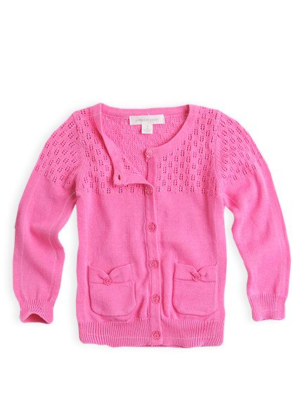 Pumpkin Patch - knitwear - carly rose cardigan - S3EG30001 - rose bloom - 0-3mths to 12