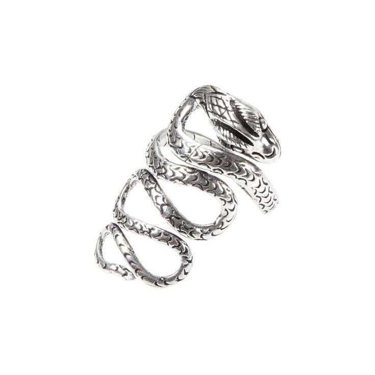 Inel șarpe încolăcit, argint, India